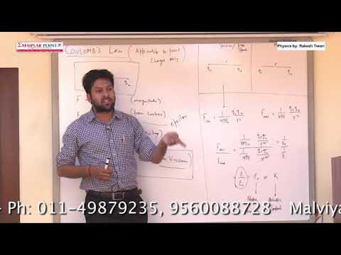 CBSE XII PHY DEMO LECTURE ON COULOMB'S LAW
