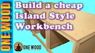 How to build a workbench for woodworking projects using a Kreg HD jig pocket hole jig