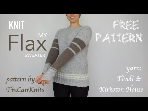 5b585257d88eb Flax Sweater FREE PATTERN by Tin Can Knits - Finished Object ...