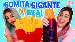 GOMITA GIGANTE VS COMIDA REAL   MIS PASTELITOS