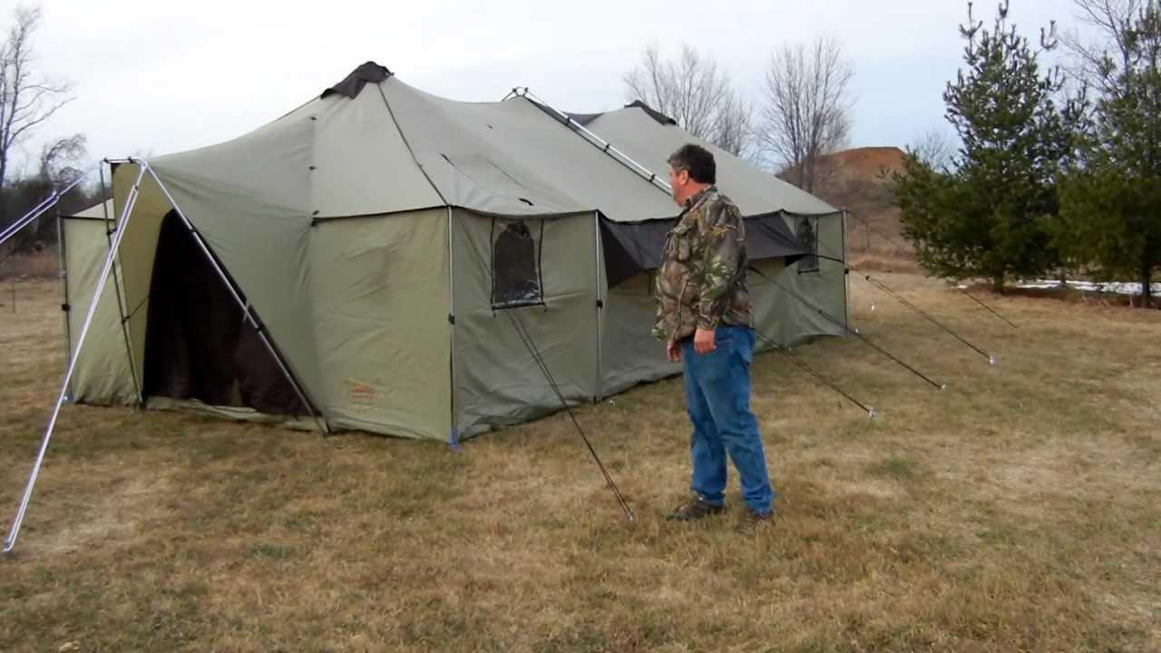 & Cabelau0027s Alaknak Tent 13x27 - YouTube