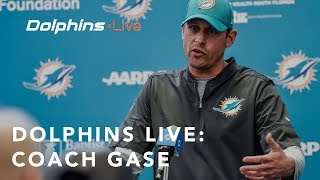 Adam Gase on Rookie Performance During Minicamp & Tannehill's Progress | Dolphins Press Conference
