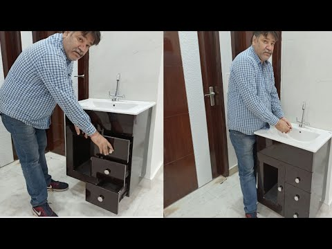 New Modern Counter Top Wash Basin Cabinet With Price Detail | Furniture Rayat
