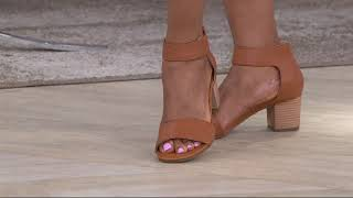 Vionic Block Heel Leather Sandals