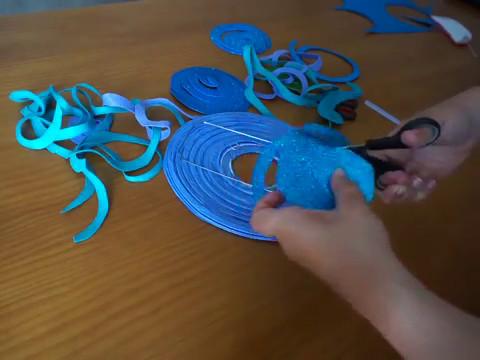 Decoración Fiesta La Sirenita Hacer Medusa Con Un Farolillo