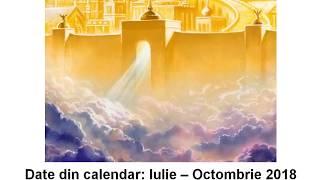 Sărbători/Evenimente/Calendar IULIE-OCTOMBRIE 2018