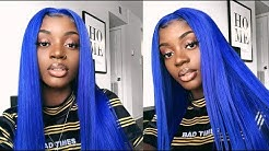 AFFORDABLE ELECTRIC BLUE WIG ! | ft iseehair.com