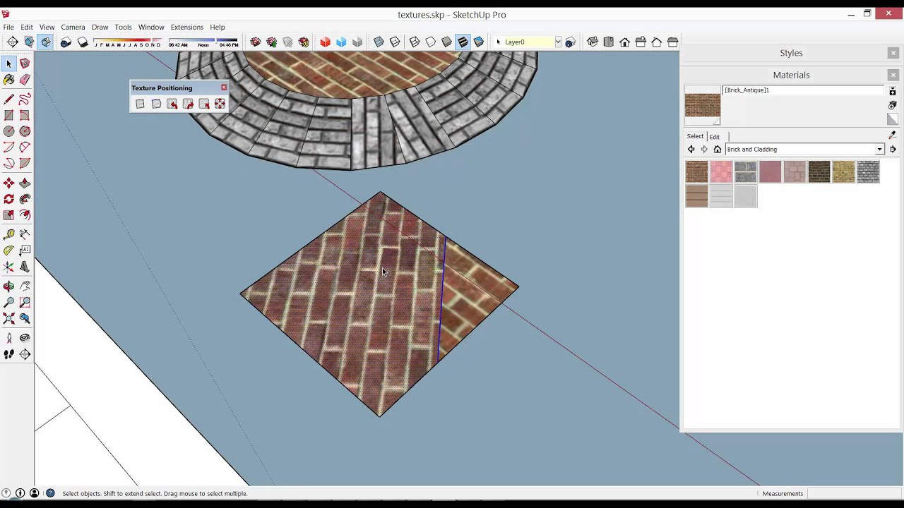 SketchUp Plugin Eneroth Texture Positioning Tools - YouTube