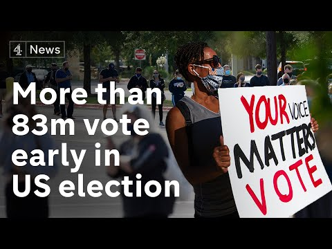 US election: More than 80 million Americans vote early in presidential poll