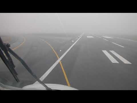 An124 100M landing Milano bad weather