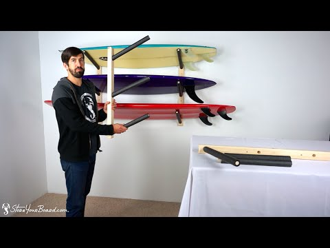 Surfboard Wall Rack | Triple Wood Surf Rack | StoreYourBoard