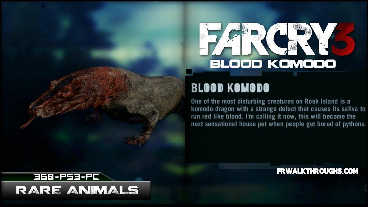 Far Cry 3 Hunting Rare Animals Blood Komodo - YouTube