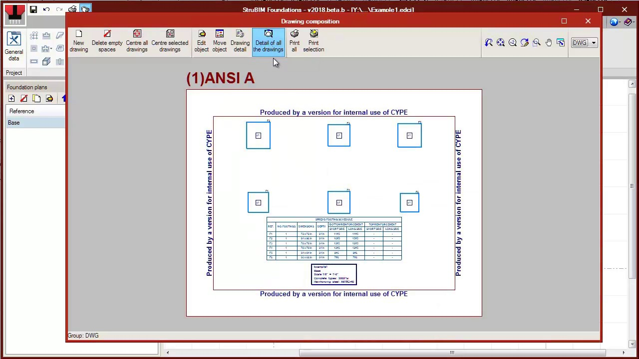 StruBIM Foundations  Footings and pile cap design without BIM model