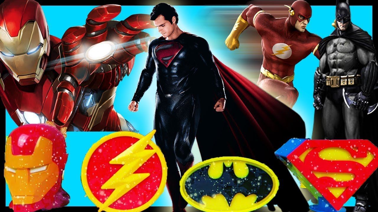 CHRISTMAS AVENGERS & JUSTICE LEAGUE Surprise Eggs In Snowing Town ...