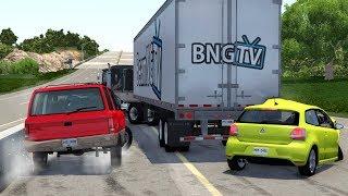 Highway Car Crashes #5 - BeamNG.Drive