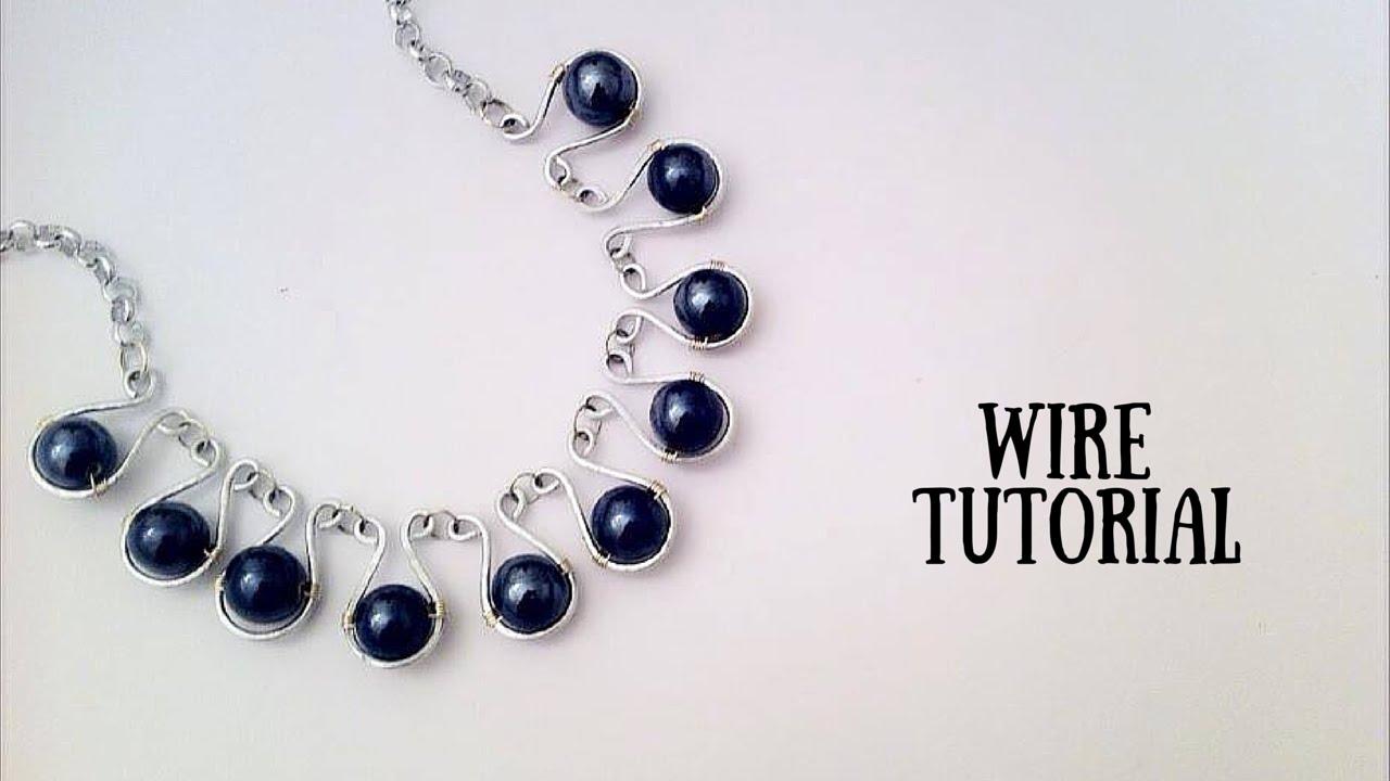 Preferenza Tutorial \ Wire Necklace \ Collana in Wire \ Alluminio e Pietre di  SS81