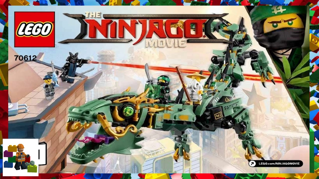 lego instructions the lego ninjago movie 70612 green ninja mech dragon book 1 - Legocom Ninjago