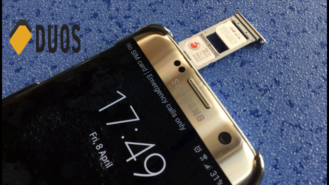 samsung s7 edge carte sim How Samsung Galaxy S7 edge Dual SIM Duos actually work   YouTube