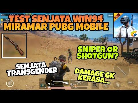 Coba Senjata baru Win94 di Map Miramar PUBG MOBILE - Sniper Rasa Shotgun !