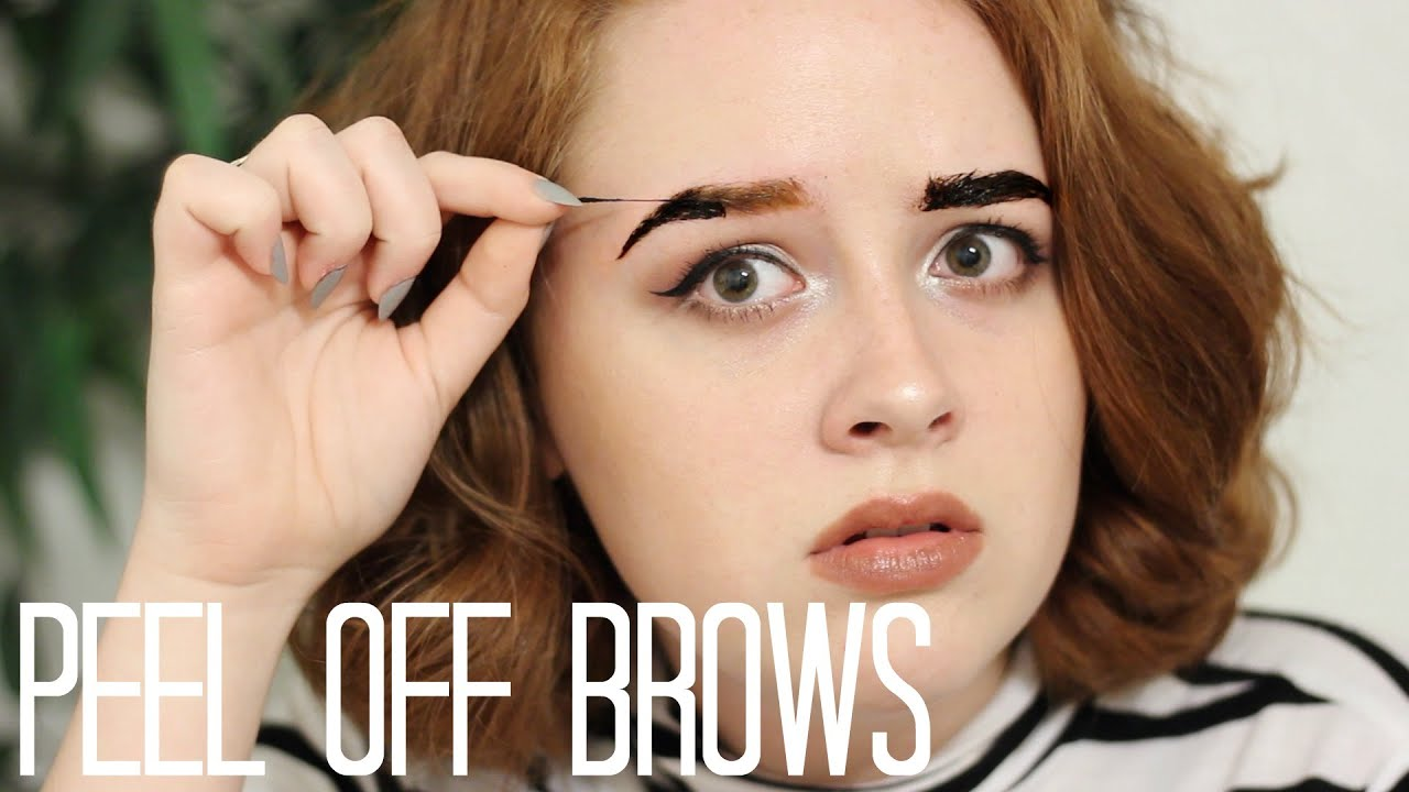 Peel Off Brow Tint Review Brows For Redheads Youtube