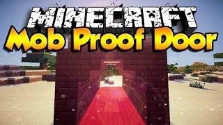 How To Make A Mob Proof Door ( Minecraft 1.10 ) [HD] [2016]