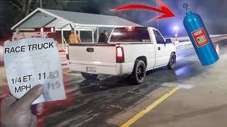 My Nitrous Truck ran it's FASTEST PASS YET!!!
