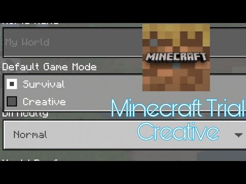 Cách bật chế độ sáng tạo trong Minecraft Trial