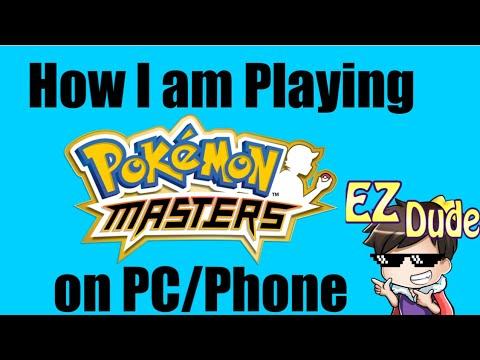 How I Am Playing Pokemon Masters On My Pc Phone Youtube