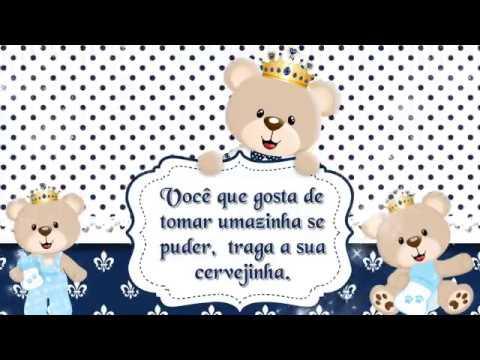 Convite Animado Chá De Bebê Ursinho Príncipe Do Heitor Hd
