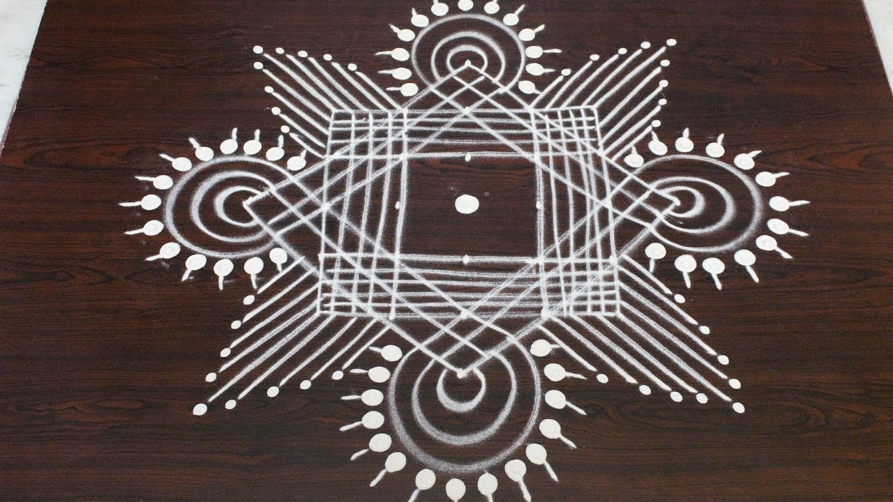 Margazhi Kolam Designs With 7 To 1 Dots Dhanurmasam