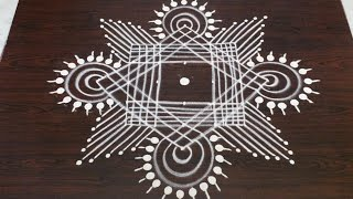 margazhi kolam designs with  7 to 1 dots || dhanurmasam muggulu designs || easy rangoli designs