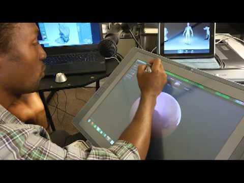 Wacom CintiQ 21UX and Sculptris
