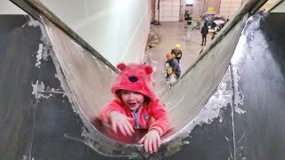 NEW 45ft Slide Drop and Speed Test!! (Adley loves it)