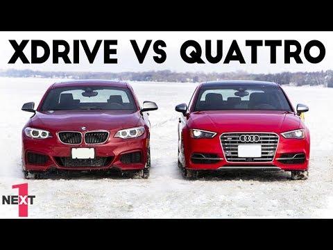 Epic Audi quattro vs BMW xDrive on snow 2017