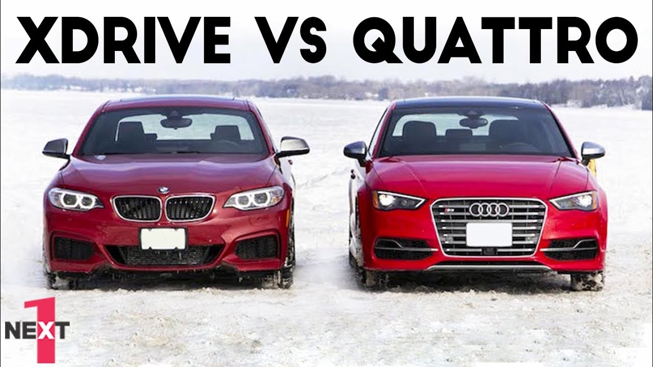 Epic Audi Quattro Vs Bmw Xdrive On Snow 2017 Youtube