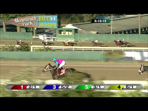 video thumbnail for MONMOUTH PARK 10-3-20 RACE 11