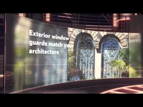 Custom Wrought Iron Window Security Bars, Artistic Iron Work