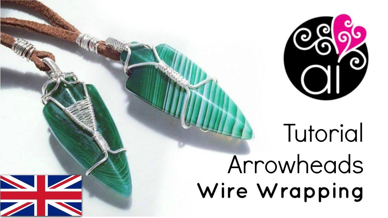 How to Wire Wrap Arrow Heads | DIY Tutorial | Man\'s Jewelry - YouTube