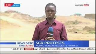 Kajiado residents disrupt construction of SGR over delayed compensations