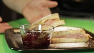 Ham & Cheese Pan-fried Monte Cristo Sandwich For Two : Delicious Dishes