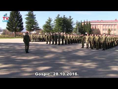 Bojnik Dražen Kostelac predaje prijavak u Gospiću