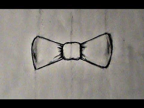 step-step drawing bow tie
