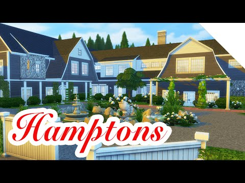 Hamptons Mansion — The Sims 4 Speed Build — Part 1