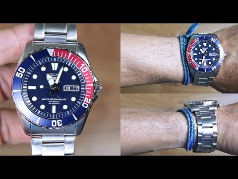 7477906546cc3 SEIKO 5 SNZF15 AUTOMATIC BLUE DIAL STAINLESS STEEL - UNBOXING - YouTube