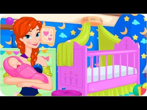 Disney Princess Anna Newborn House Makeover Video for Kids