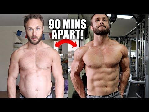 CRAZY TRANSFORMATION (ONLY 1 WORKOUT!)