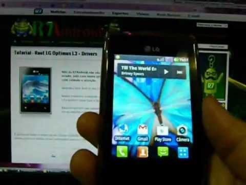 Video Aula - Root LG optimus L3 Passo a passo.