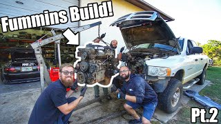 homepage tile video photo for Putting a CR CUMMINS In a 6.4 Ford Dually! Fummins Build Pt.2! *Building The Ultimate Tow Rig*