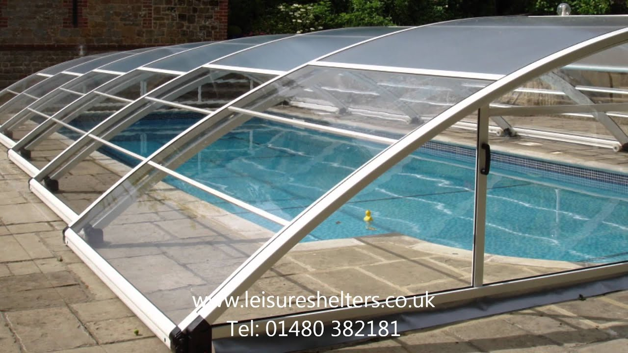 No Line Trackless Pool Enclosure From Leisure Shelters Uk Ltd Tel 01480 382181 Youtube