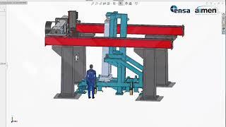 Fabricación soldada de estructuras pesadas de acero inoxidable con láser
